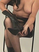 Preview Girls in leather boots - Leanne just loves the feel of being semi naked and slipping into a sexy pair of leather boots! These ankle hugging beauties really get her going and they will with you too