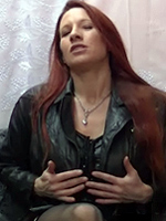 Fay loves to wear her leather panelled lingerie and over that a tight leather jacket, so she and you can enjoy the leather smell, touch and taste