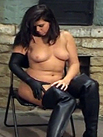 Preview Ladies in leather gloves - Lovely Leanne is wearing thigh leather boots and totally nude, then she puts on these very long, very soft, unlined black leather gloves. Enough to cum for
