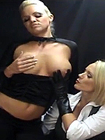 Preview Ladies in leather gloves - Mistress Lucy Zara demands her maid FrankieBabe brings her her gloves and then enjoy the pleasure they give together
